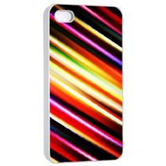 Funky Color Lines Apple iPhone 4/4s Seamless Case (White)