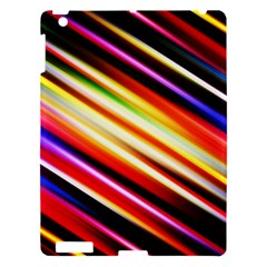 Funky Color Lines Apple Ipad 3/4 Hardshell Case