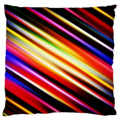 Funky Color Lines Large Cushion Case (two Sides)