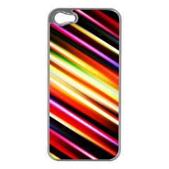 Funky Color Lines Apple Iphone 5 Case (silver)