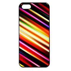 Funky Color Lines Apple iPhone 5 Seamless Case (Black)