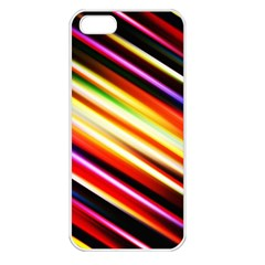 Funky Color Lines Apple Iphone 5 Seamless Case (white)