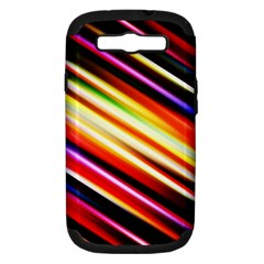 Funky Color Lines Samsung Galaxy S III Hardshell Case (PC+Silicone)
