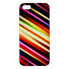 Funky Color Lines Apple Iphone 5 Premium Hardshell Case