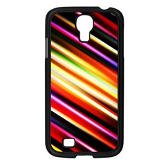 Funky Color Lines Samsung Galaxy S4 I9500/ I9505 Case (Black)