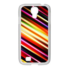 Funky Color Lines Samsung GALAXY S4 I9500/ I9505 Case (White)