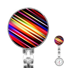 Funky Color Lines Stainless Steel Nurses Watch