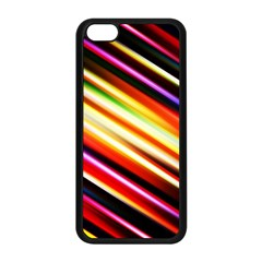 Funky Color Lines Apple Iphone 5c Seamless Case (black)