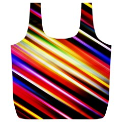 Funky Color Lines Full Print Recycle Bags (L)