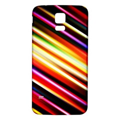 Funky Color Lines Samsung Galaxy S5 Back Case (White)
