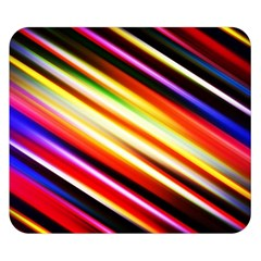 Funky Color Lines Double Sided Flano Blanket (Small)