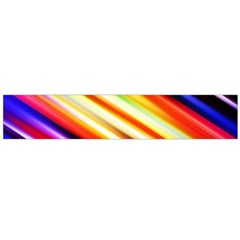 Funky Color Lines Flano Scarf (Large)