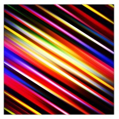Funky Color Lines Large Satin Scarf (Square)