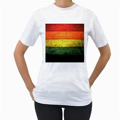 Five Wall Colour Women s T Shirt (white) (two Sided)