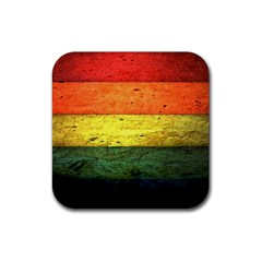 Five Wall Colour Rubber Square Coaster (4 Pack)