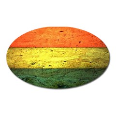Five Wall Colour Oval Magnet