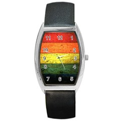 Five Wall Colour Barrel Style Metal Watch