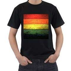 Five Wall Colour Men s T Shirt (black) (two Sided)