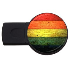 Five Wall Colour Usb Flash Drive Round (4 Gb)