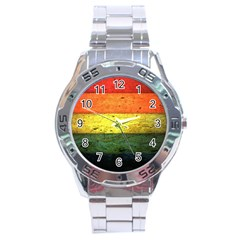 Five Wall Colour Stainless Steel Analogue Watch