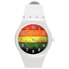 Five Wall Colour Round Plastic Sport Watch (M)