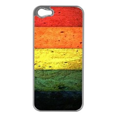 Five Wall Colour Apple iPhone 5 Case (Silver)