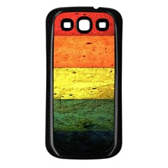 Five Wall Colour Samsung Galaxy S3 Back Case (black)