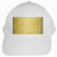 Spring Yellow Gingham White Cap