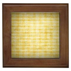 Spring Yellow Gingham Framed Tiles