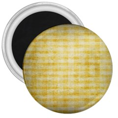 Spring Yellow Gingham 3  Magnets
