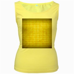 Spring Yellow Gingham Women s Yellow Tank Top