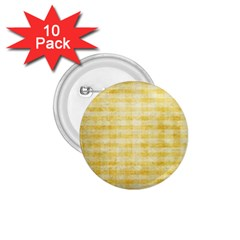 Spring Yellow Gingham 1.75  Buttons (10 pack)