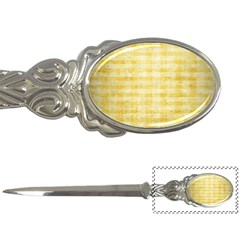 Spring Yellow Gingham Letter Openers