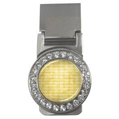 Spring Yellow Gingham Money Clips (cz)
