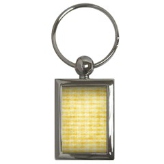 Spring Yellow Gingham Key Chains (rectangle)