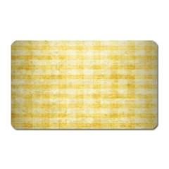 Spring Yellow Gingham Magnet (rectangular)