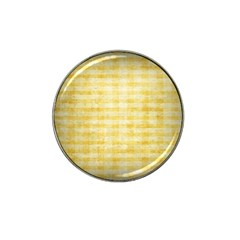 Spring Yellow Gingham Hat Clip Ball Marker