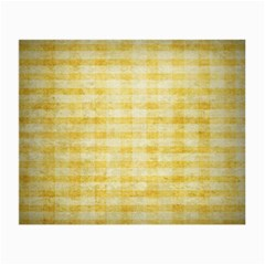 Spring Yellow Gingham Small Glasses Cloth