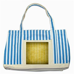 Spring Yellow Gingham Striped Blue Tote Bag