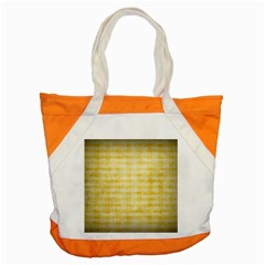 Spring Yellow Gingham Accent Tote Bag