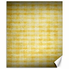 Spring Yellow Gingham Canvas 8  x 10