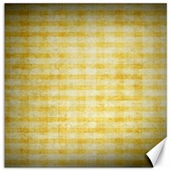 Spring Yellow Gingham Canvas 20  x 20