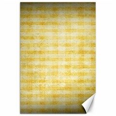 Spring Yellow Gingham Canvas 20  x 30