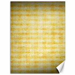Spring Yellow Gingham Canvas 36  x 48