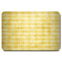 Spring Yellow Gingham Large Doormat