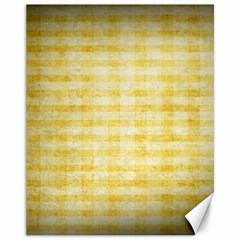 Spring Yellow Gingham Canvas 11  X 14