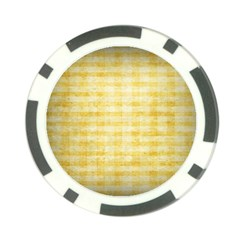 Spring Yellow Gingham Poker Chip Card Guard