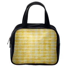 Spring Yellow Gingham Classic Handbags (One Side)