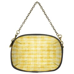 Spring Yellow Gingham Chain Purses (One Side)