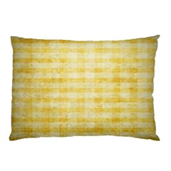 Spring Yellow Gingham Pillow Case